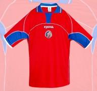 COSTA RICAs förstatröja i VM i Japan/Sydkorea 2002 ryggsida