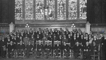 FIFAs medlemmar på kongressen 1928 som beslutar om Fotbolls-VM.