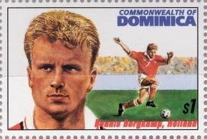 Även Dennis Bergkamp har varit frimärksmotiv, då några länder kom ut med motiv av VM-spelare 1994.