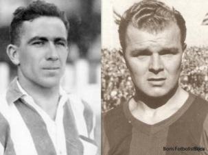 Rekordhållarna med sju mål i en match; Bata och Kubala