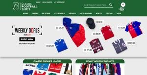 Kliocka för att komma till Classic Football Shirts