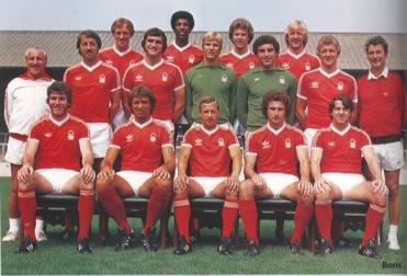 Nottingham Forest trupp från 1978 som var den senaste (och jag vågar säga den sista) som vann högsta ligan som nykomling.
