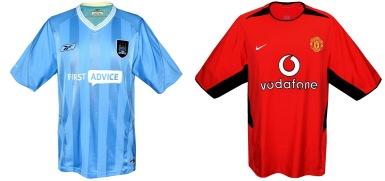 Skillnad på City och Uniteds tröja från 2003/04.
