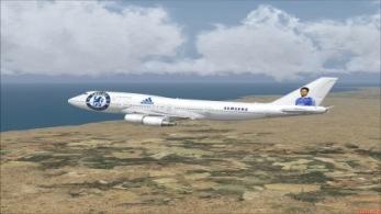 Det var dock icke detta flygplanet de flög med 1957
