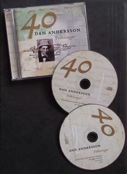 40 Dan Andersson-tolkningar (2CD) - Dan Andersson, 40 tolkningar