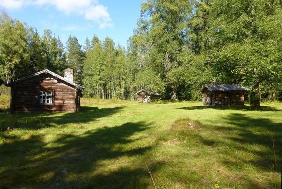 Bränntjärnstorpet i Grangärde finnmark där Dan Anderssons farmor Anna Stina Knas bodde. Dan Andersson vistades mycket här omkring.