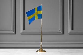 Flaggstång 30 cm, Mässing - Skultunas flaggstång 30cm mässing