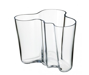 Iittala  Alvar Aalto Collection vas klarglas 16cm - Iittala Aalto Collection vas klarglas 16cm