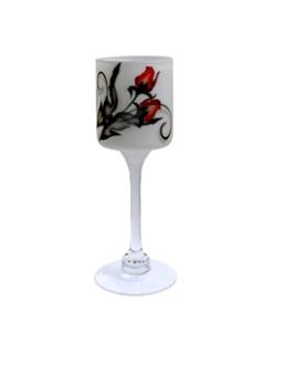 Nybro, Crystal Ink Rose Lykta på fot 30 cm - Nybro, Crystal Ink Rose Lykta på fot 30 cm