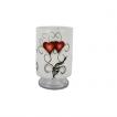 Nybro, Crystal Ink Heart Stormlykta 25x15cm - Nybro, Crystal Ink Heart Stormlykta 25x15cm