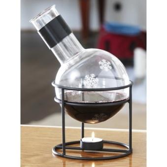 Dorre, Snöstjärna Glöggkolv i glas med värmare - Dorre, Snöstjärna Glöggkolv i glas med värmare