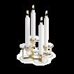 Holmegaard, Lumi Ljusstake 4-armad med glasmanschetter mässing