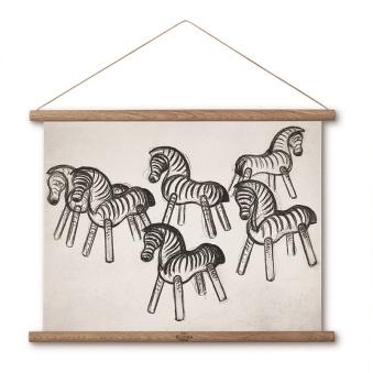 Kay Bojsesen, Zebra Ritning 40x30 cm - Kay Bojsesen, Zebra Ritning 40x30 cm