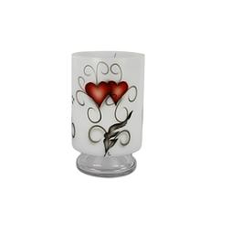 Nybro, Crystal Ink Heart Stormlykta 25x15cm