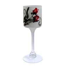 Nybro, Crystal Ink Rose Lykta på fot 30 cm