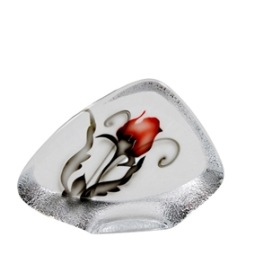 Nybro, Crystal Ink Rose Block 11 cm