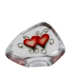 Nybro, Crystal Ink Heart Block 10x14,5 cm