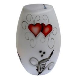 Nybro, Crystal Ink Heart Vas 20x13 cm