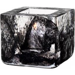 Kosta Boda Brick ljuslykta svart