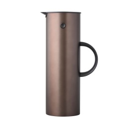 Stelton - EM77 Termoskanna 1 L steel mörkbrun metallic