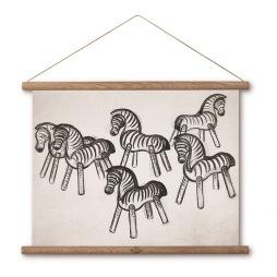 Kay Bojsesen, Zebra Ritning 40x30 cm