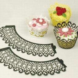 Patisse - Cupcake krage svart - 6 st