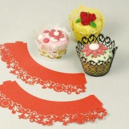 Patisse - Cupcake krage röd - 6 stk