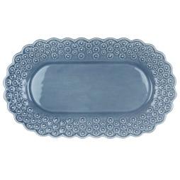 PotteryJo, Ditsy Ovalt Fat, Dusty Blue