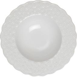 PotteryJo, Ditsy Djup tallrik 29cm, White