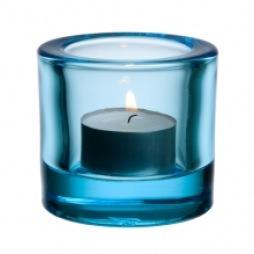 Iittala Kivi ljuslykta ljusblå 6cm
