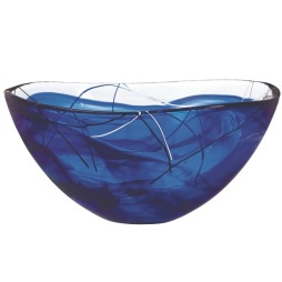 Kosta Boda Contrast skål stor blå
