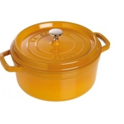 Staub Rund Gryta 26 cm 5,2 liter Mustard