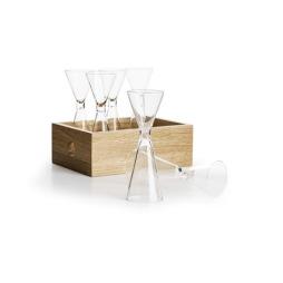 Sagaform, Oak snapsglas med förvaringslåda 6-pack