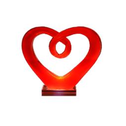 RBA Hjärta i glas 18,5cm