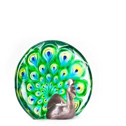 Målerås, Peacock - skulptur grön, Limited Edition