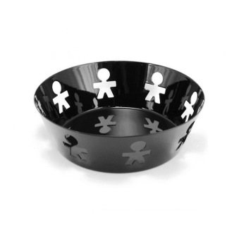 Alessi, Girotondo skål svart 18cm - Alessi svart skål 18cm