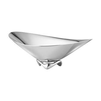 KOPPEL wave skål – rostfritt stål, liten -