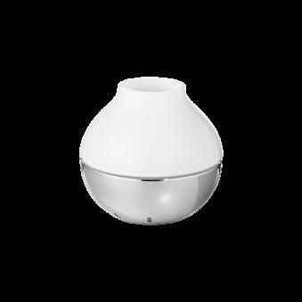KOPPEL, Georg Jensen, ljushållare i rostfritt stål och glas mellan - Koppel ljushållare