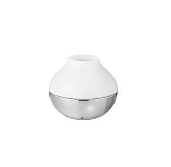 KOPPEL hurricane ljushållare – rostfritt stål och glas, liten - KOPPEL ljushållare