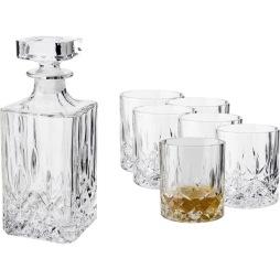 Whiskyset Karaff 75cl+glas 27cl 6-p