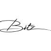 Bitz, Stengodsfat 40cm svart/blå
