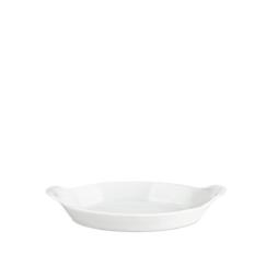 Pillivuyt Oval serveringstallrik Nr 8, Vit L23cm B13