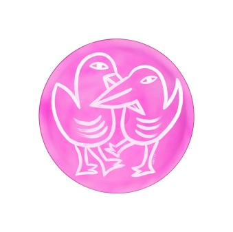 Final Peace Plate Pink -