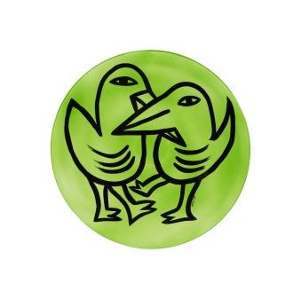 Final Peace Plate Green Birds -