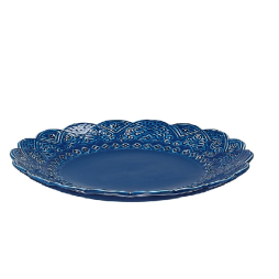 Orient assiett blåbär