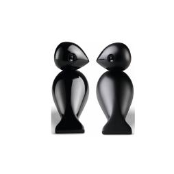Turturduvor svart 1 par, Kay Bojesen