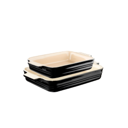 Fatset rekt. 2 delar 26×17,5cm+32x24cm Black