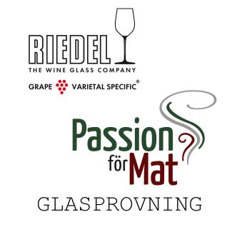 Vin- & glasprovning med Riedel/Passion för mat - Fredag 13.00