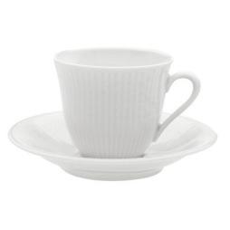 Rörstrand Swedish Grace kaffekopp med fat 16 cl snö
