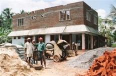 Bygge av nytt hus på MTM:s tomt delvis                bekostat av medel från Sverige.